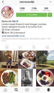 Zanna's Instagram Feed