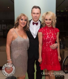 My Lovely aunt Mary Joyce, my lovely friend Richard Lynch and me (Leanne Moore) Pic: Oisin McHugh