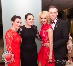Ruth and Leah Melling with Leanne Moore and Richard Lynch
